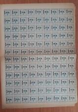 Vetekeverria e Mirdites 25 qind Takse Rare Canceled Albania Stamp Full Sheet