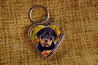 Rottweiler Dog Gift Keyring Dog Key Ring heart shape gift Xmas Mothers Day Gift