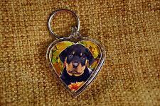 Rottweiler Dog Gift Keyring Dog Key Ring heart shape gift Free UK Post Valentine