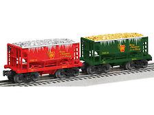 LIONEL 6-82709 CHRISTMAS PENNSYLVANIA SILVER & GOLD ORE CAR 2-PACK O GAUGE TRAIN