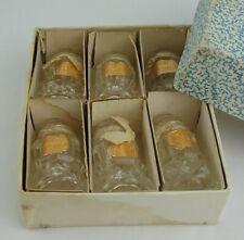 Bohemia Lead Crystal Salt & Pepper Shakers Set Czechoslovakia NEW Vintage