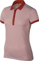 New with tags Nike Golf Women's Size M Dri-Fit Victory Stripe Polo Shirt Red