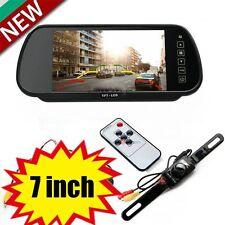 "7""LCD TFT Color Screen Car Reverse Rear View Backup Camera DVD Mirror Monitor FS"