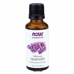 NOW FOODS 100% Pure Lavender Essential Oil 1 oz (30 ml), FRESH, MADE IN USA