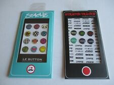 iPhone iTouch Home Button Sticker Stache Le Button 18 Sticker Buttons NEW