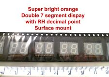Kingbright KCDC03-106 2 Digit 7-Segment LED Display Orange 46 mcd RHDP OM0659D