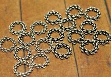 New 18 pieces fine Sterling Silver Rondelle Beads - 8mm Was $23 - A1107a+