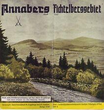 Annaberg und das Fichtelberggebiet /Deutsches Haus, usw.Reiseprospekt 1940