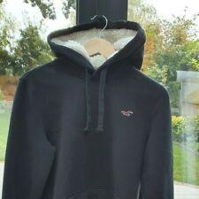 Men's Hollister Hoodie Black fleece lined hood Small