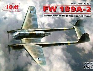 ICM Models 1:72 Focke Wulf Fw 189A-2 German Aircraft Model Kit