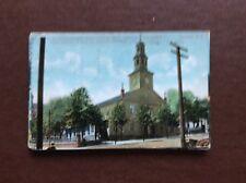 Ea4 postcard used 1907 halifax nova scotia st pauls church