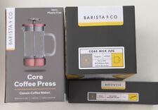 Barista & Co Core Coffee Press Set Copper 3 Piece Frothing Jug Spoon Cafetière