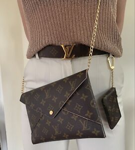 Authentic Louis Vuitton Kirigami - Large Pouch And Insert And Gold Chain