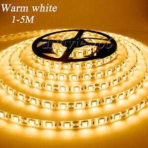 5V Warm White LED Strip Light USB Powered TV PC Back Mood Lighting Home Lamp UK
