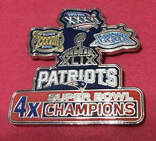 NEW ENGLAND PATRIOTS 4X SUPER BOWL CHAMPS COLLECTOR PIN