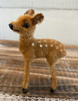 Vintage Wagner Handwork Deer Fawn Christmas Ornament West Germany