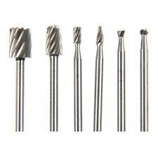 6Pcs HSS Rotary Tool Mini Drill Bit Set Cutting Tools Forwood Carving Tools Kit