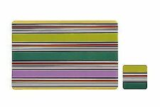 Premier Housewares Stripe Placemats and Coasters Set of 4