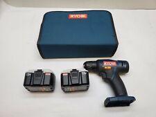 "RYOBI CD100 12V 3/8"" Cordless Drill w/ 2 CB120N Batteries"