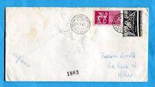 1965 TRAFORO MONTE BIANCO £.30 + EXPR.CAVALLI ALATI £.75 - USO BREVE (254190)
