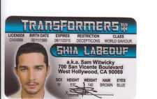 Shia LaBeouf Transformers SAM WITWICKY West Hollywood CA card Drivers License
