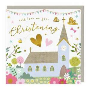 Whistlefish Eco Recycled Greetings Card Christening Love Family