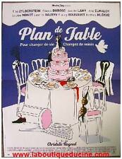 PLAN DE TABLE Affiche Cinéma / Movie Poster Elsa Zylberstein 53x40