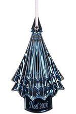 NEW BACCARAT 2016 CRYSTAL NOEL CHRISTMAS TREE ORNAMENT ~ BLUE ~ RETAIL $195