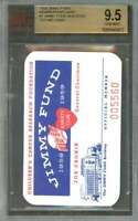 1959 jimmy fund #1 TED WILLIAMS membership card boston red sox BGS BVG 9.5