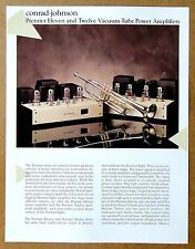 CONRAD-JOHNSON Premier Eleven & Twelve Tube Power Amplifier VTG Brochure Catalog