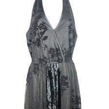 New Band Of Gypsies S Black Velvet Lace Halter Dress Romper Shorts