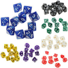 Set/10pcs D10 Ten Sided Gem Pearl Dice Dungeons & Dragons Roleplay Games Toy