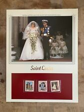More details for st lucia 1981 mnh panel prince charles princess diana wedding st pauls cathedral
