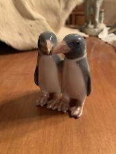 Vintage Royal Copenhagen Pair Of Penguins #1190 Rare Signed Figurine plate 10.3