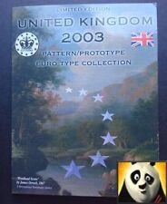 2003 Regno Unito SCOZIA EURO € esemplare prototipo di pattern 8 monete set