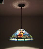 JT Tiffany Sun Flower Stained Glass Pendant Light Home Leadlight Home Decor
