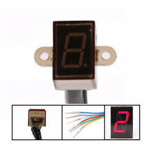 LED Motorcycle Gear Indicator N-5 Speed Shift Clutch Lever Gauge Functional
