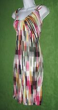 London Style Times Multi-color Jersey Waterfall Neckline Dress XL 16 $79 MISC