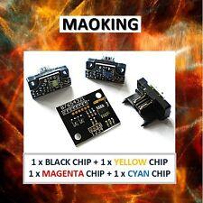 4 Drum Reset Chips (1 set)  for Konica Minolta QMS CF2002 CF3102 Drum Units YMCK