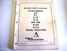 Allis Chalmers Parts Catalog Attachments B-1, B-10, B-12, Big Ten Lawn & Garden