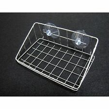 New Stainless Wire Net Dish Washing Sponge Suction Cup Holder Scrubber Sink Rack