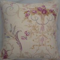 A 16 Inch cushion cover in Laura Ashley   Malmaison Plum fabric