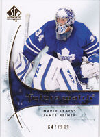 09-10 SP Authentic James Reimer /999 Rookie Future Watch FW RC