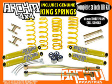 "TOYOTA LANDCRUISER 80 100 SERIES 3"" INCH LIFT KIT COIL SPRINGS & ARCHM4X4"