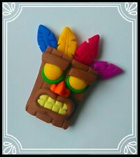 **~ Aku aku from Crash Bandicoot ~ psx psOne ~ handmade keyring charm ~**