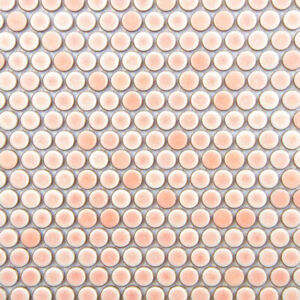 Pink Penny Round Mosaic Tile For Wall & Floor