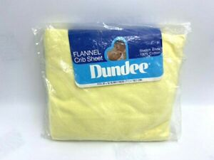 NEW Dundee Vintage Flannel Crib Sheet Solid Light Yellow 100% Cotton