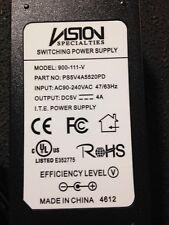 Vision Specialties Power Supply 5 Volt 4 Amp 900-111-V PS5V4A5520PD