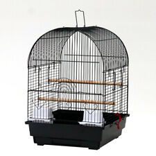 """19"""" Steel Bird Parrot Cage Canary Parakeet Cockatiel W Wood Perches Food Cups"""