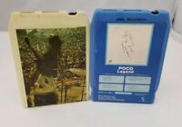 Poco 8 Track Tapes Lot of 2 Poco Seven & Legend Country Rock FREE SHIPPING